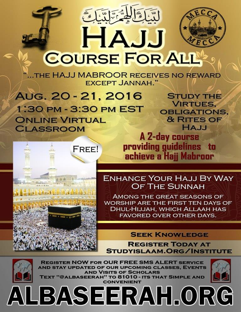 Hajj/Umrah Course For All