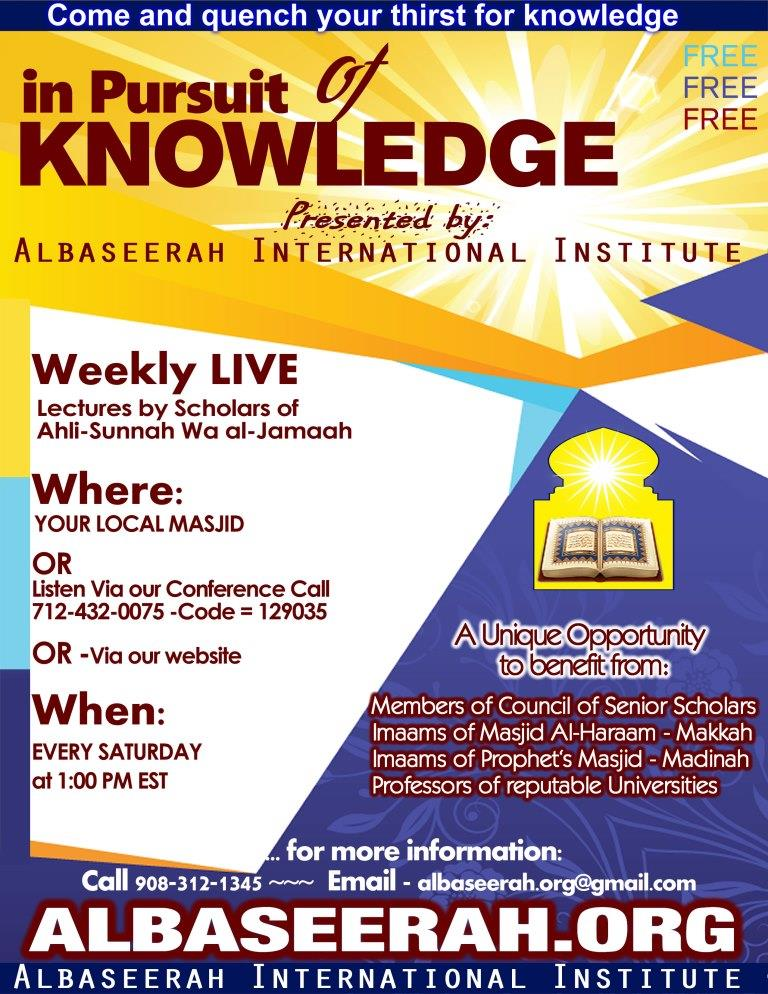 Live Lectures by Scholars